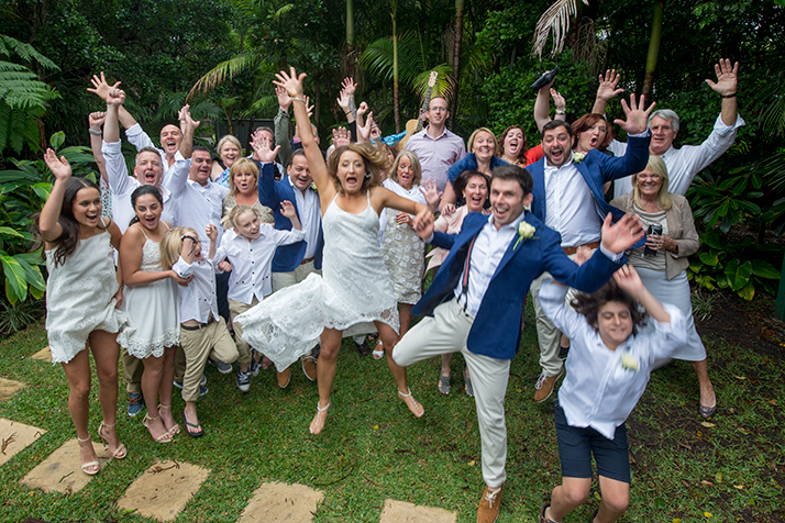 Byron Bay fun Wedding Photographer